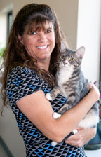 kathy covey SearchFest 2013 Feline Attendee is 30,000th Pet Adoption image